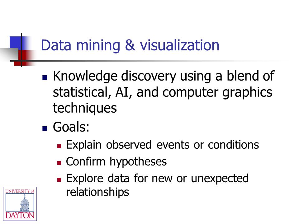 Data mining & visualization