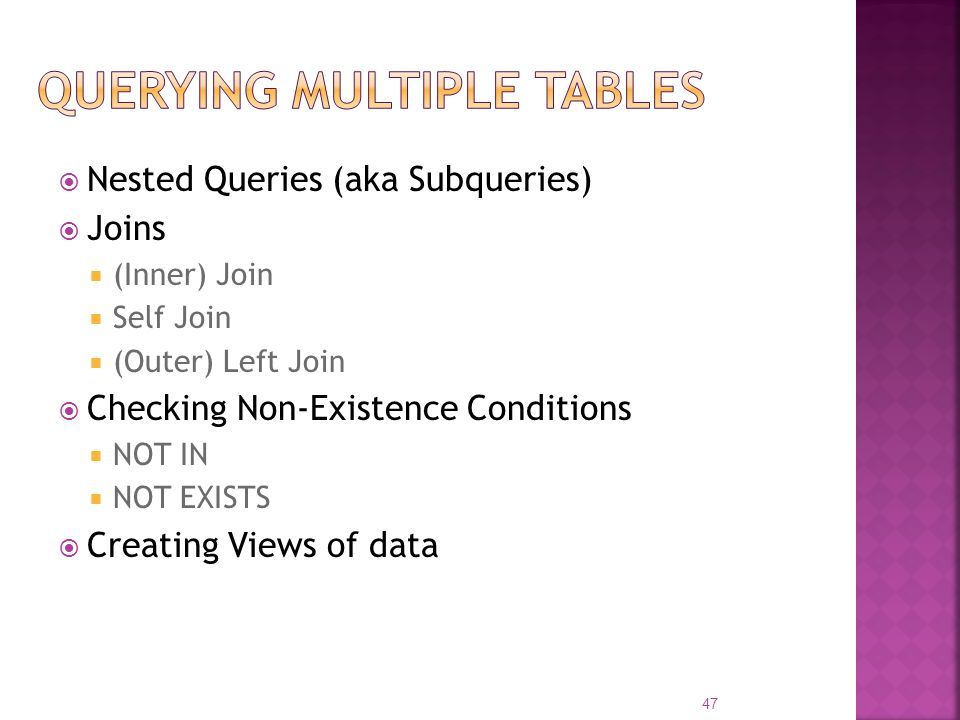 Querying Multiple Tables