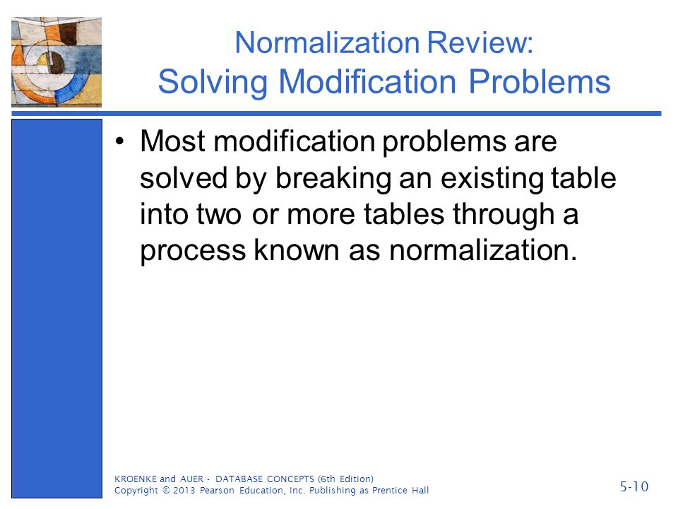 Normalization Review: Solving Modification Problems