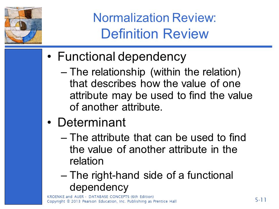 Normalization Review: Definition Review