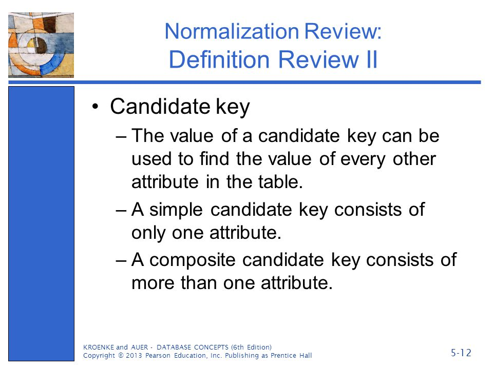 Normalization Review: Definition Review II