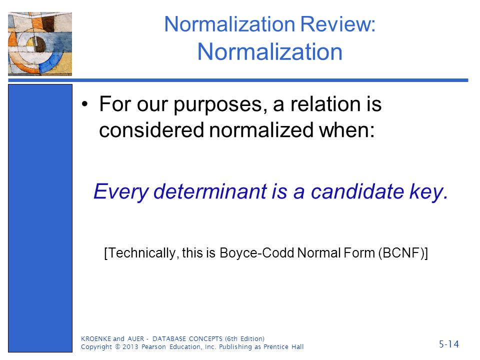 Normalization Review: Normalization