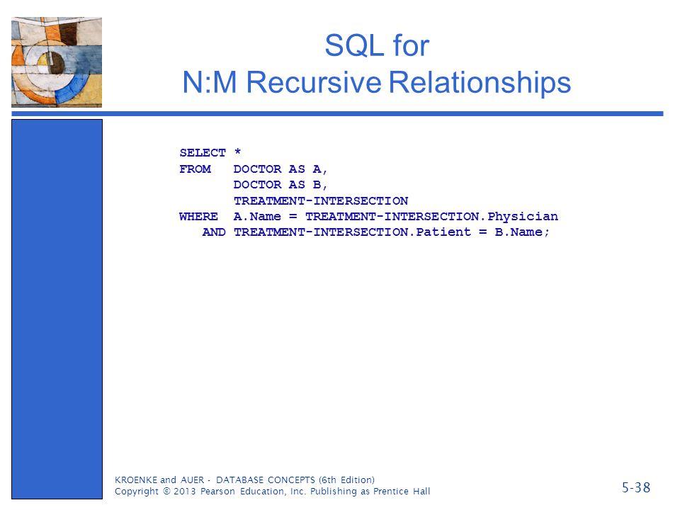 SQL for N:M Recursive Relationships