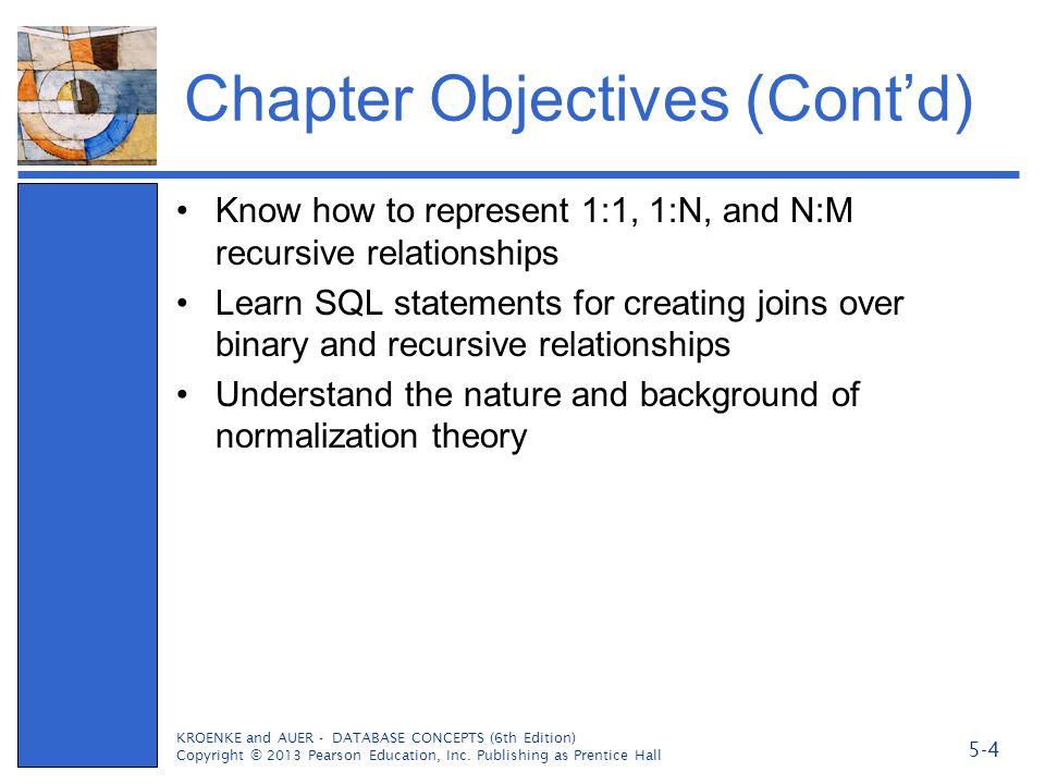 Chapter Objectives (Cont'd)