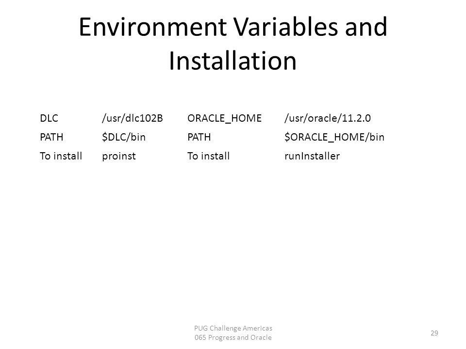 Environment Variables and Installation