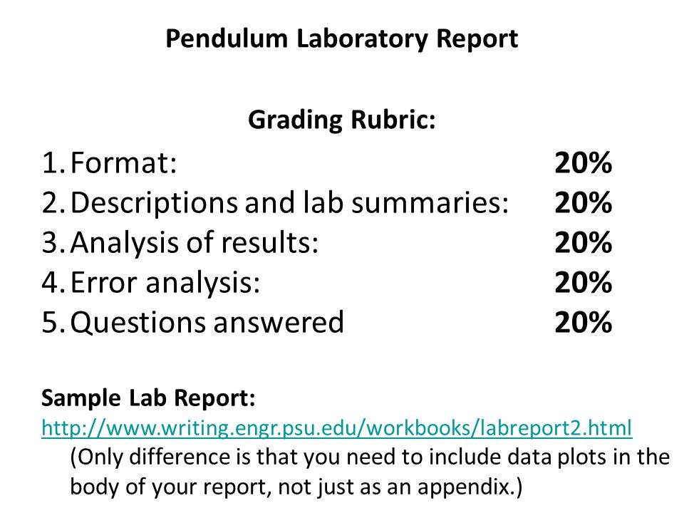 Pendulum Lab  Model Data Tables  Ppt Video Online Download