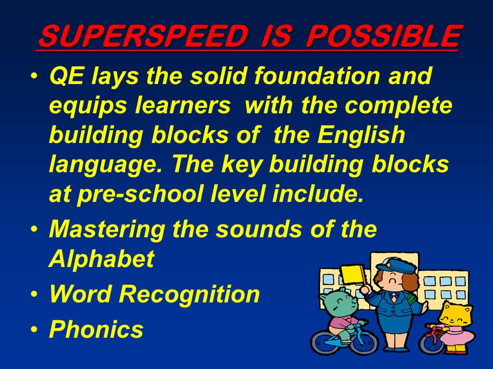 SUPERSPEED IS POSSIBLE