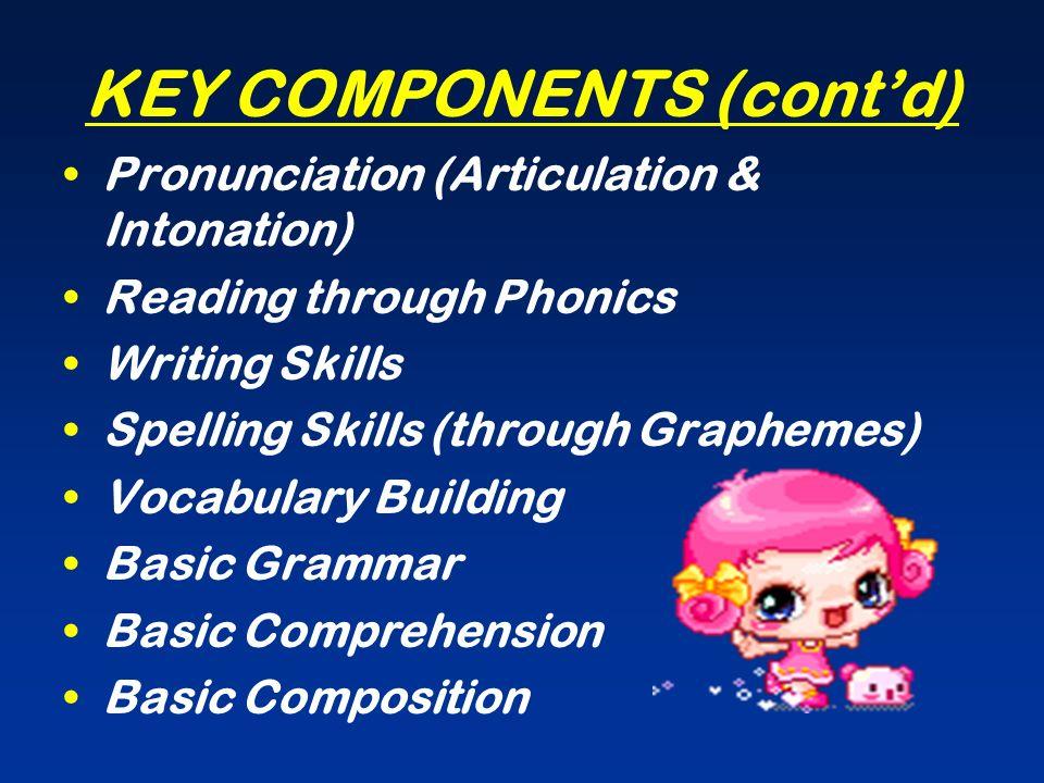 KEY COMPONENTS (cont'd)