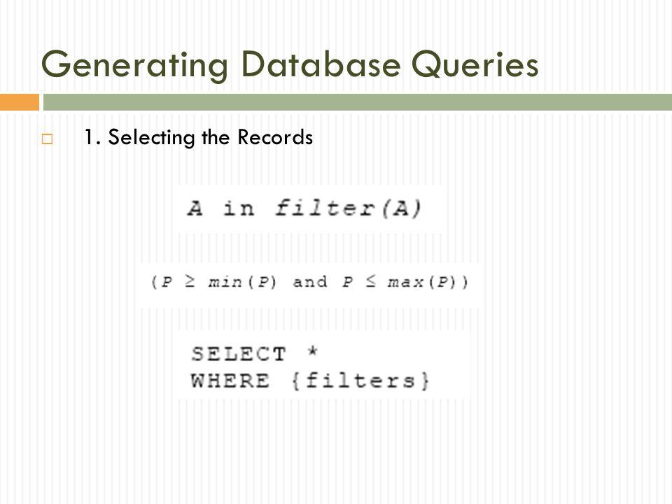 Generating Database Queries