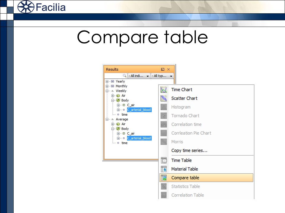 Compare table