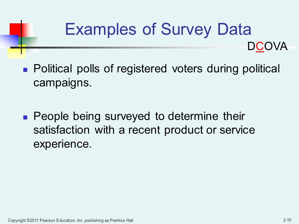 Examples of Survey Data