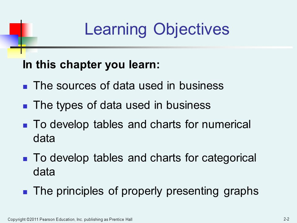 Learning Objectives In this chapter you learn:
