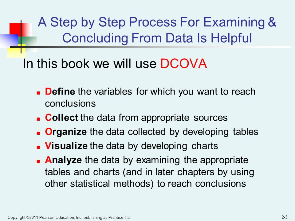 A Step by Step Process For Examining & Concluding From Data Is Helpful