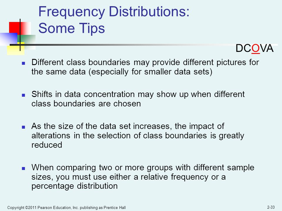Frequency Distributions: Some Tips