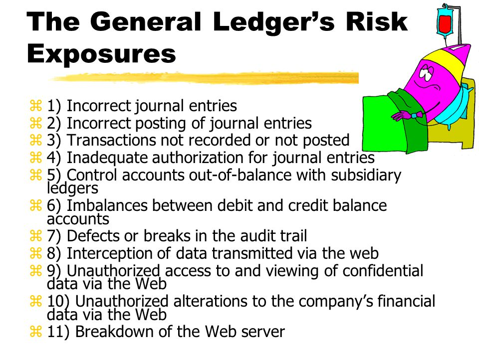 The General Ledger's Risk Exposures