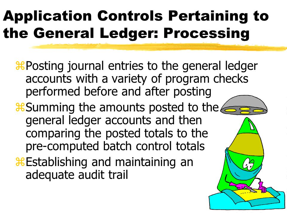 Application Controls Pertaining to the General Ledger: Processing