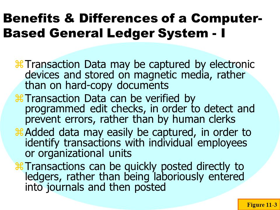 Benefits & Differences of a Computer-Based General Ledger System - I