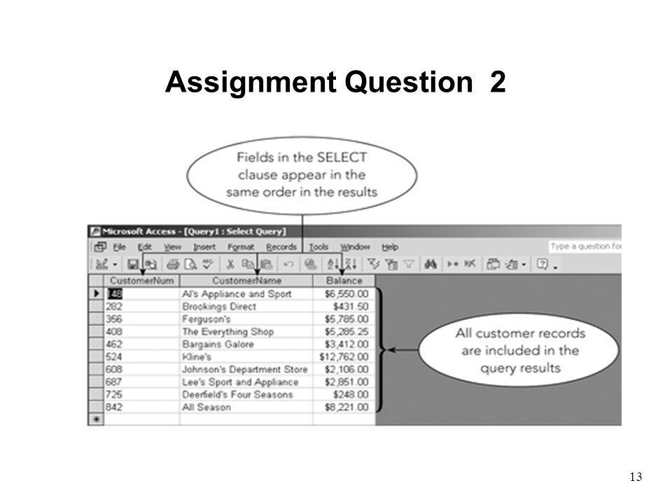 Assignment Question 2