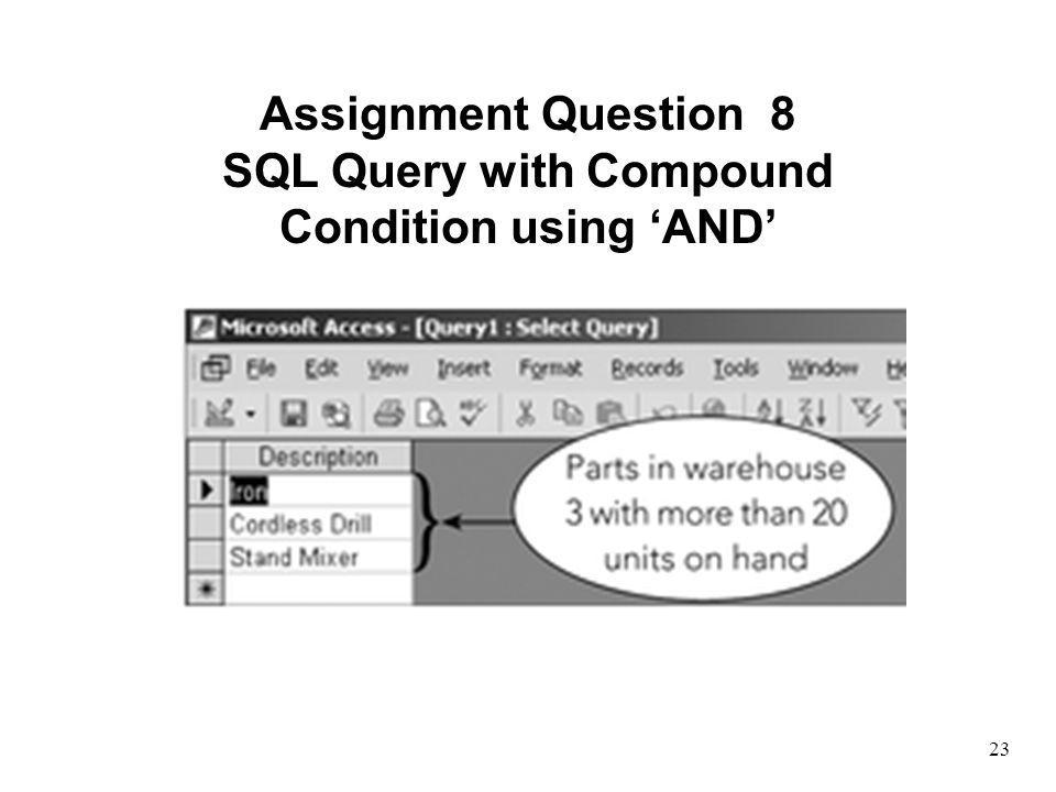 SQL Query with Compound Condition using 'AND'