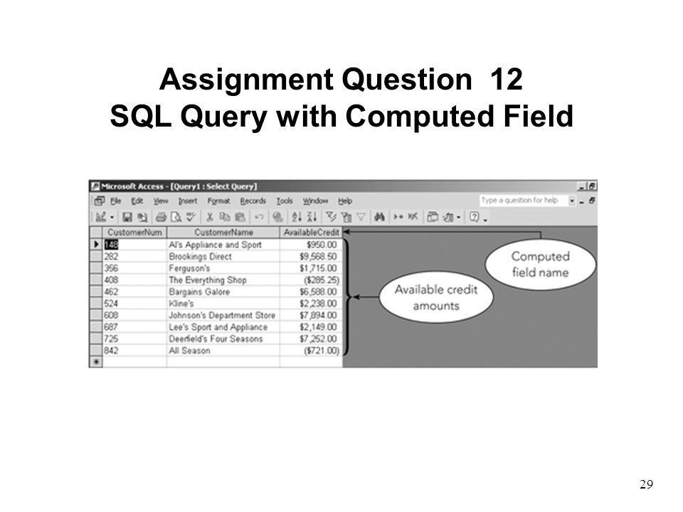 SQL Query with Computed Field