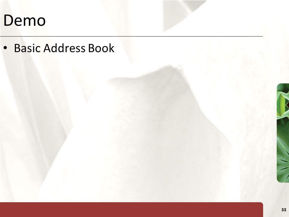 Demo Basic Address Book