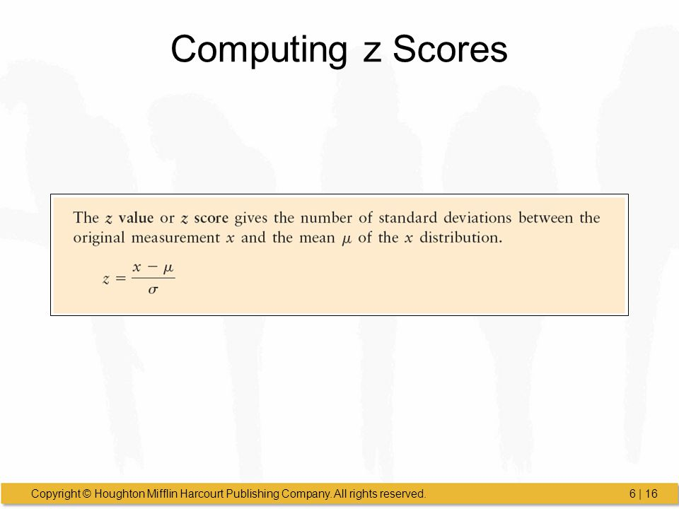 Computing z Scores