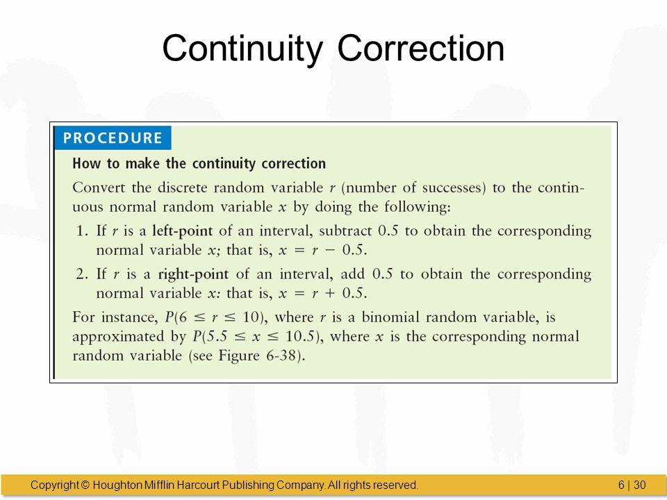 Continuity Correction