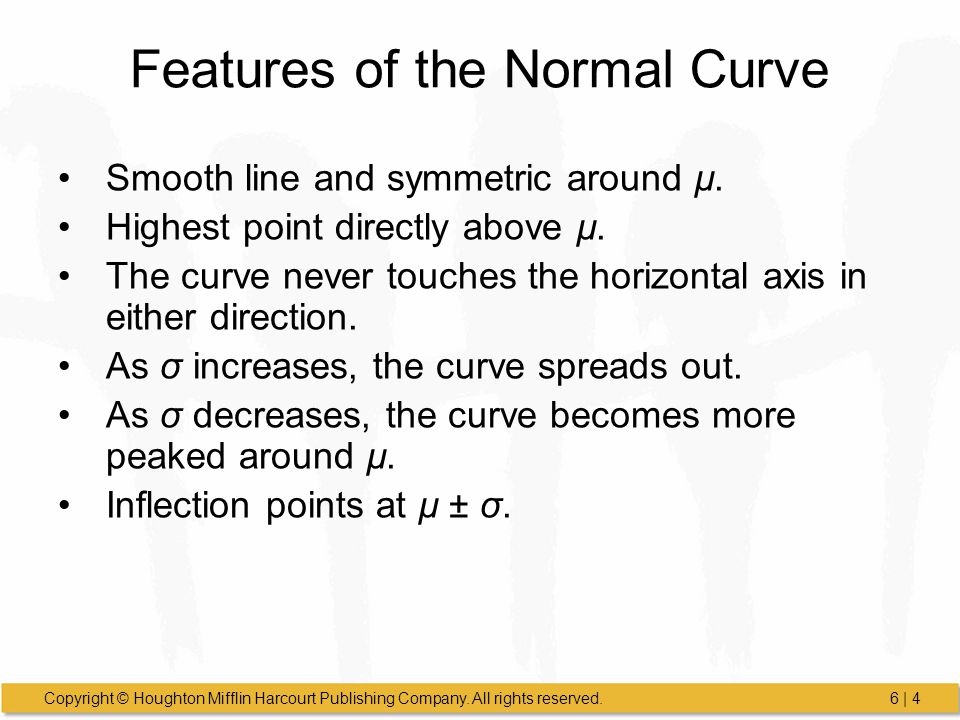 Features of the Normal Curve