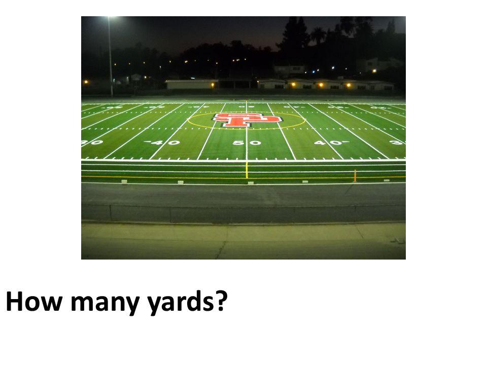 How many yards