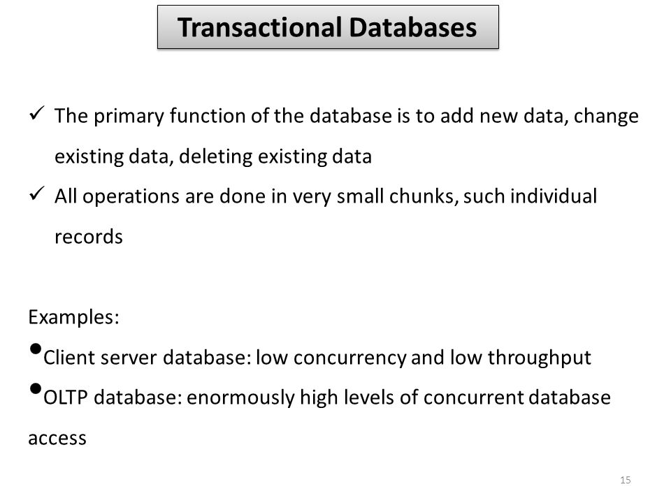 Transactional Databases