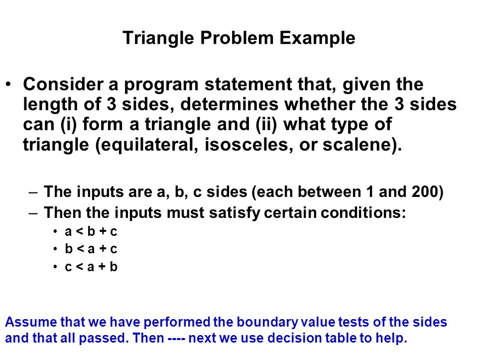 Triangle Problem Example