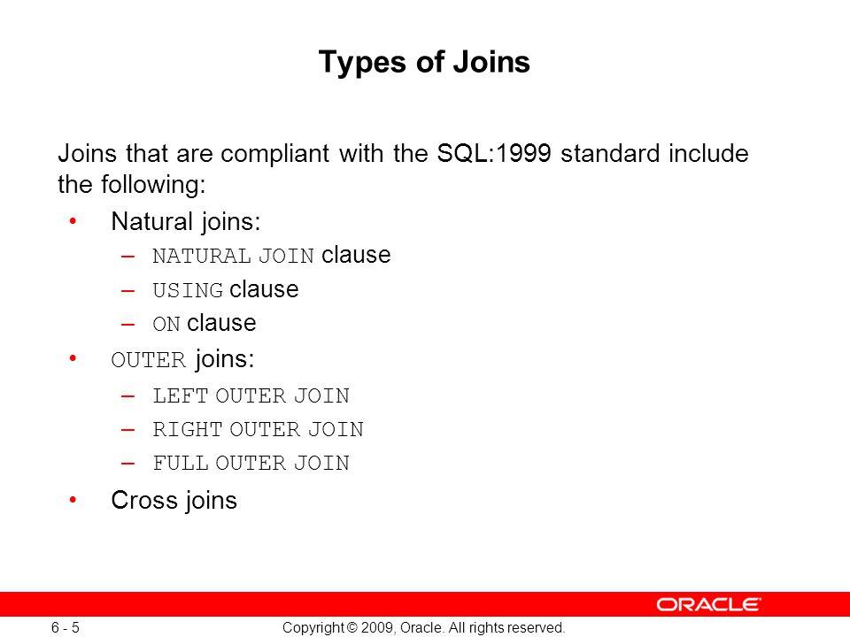 Oracle Database 11g: SQL Fundamentals I 6 - 5