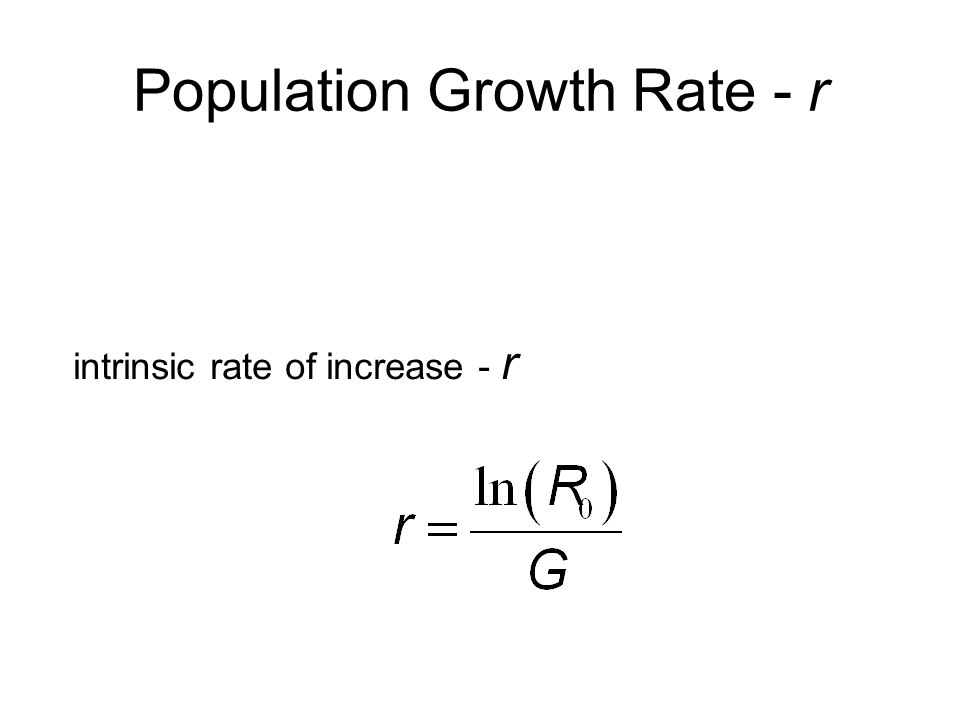 Population Growth Rate - r