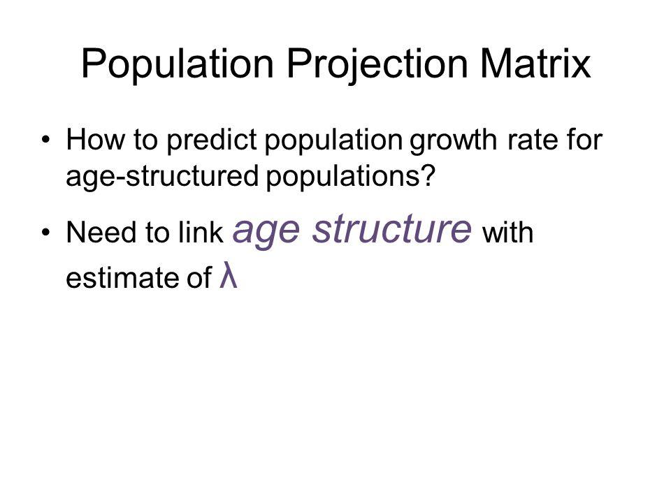 Population Projection Matrix