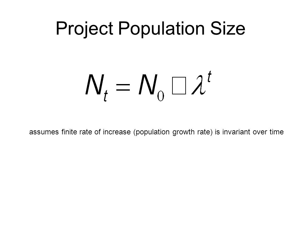 Project Population Size