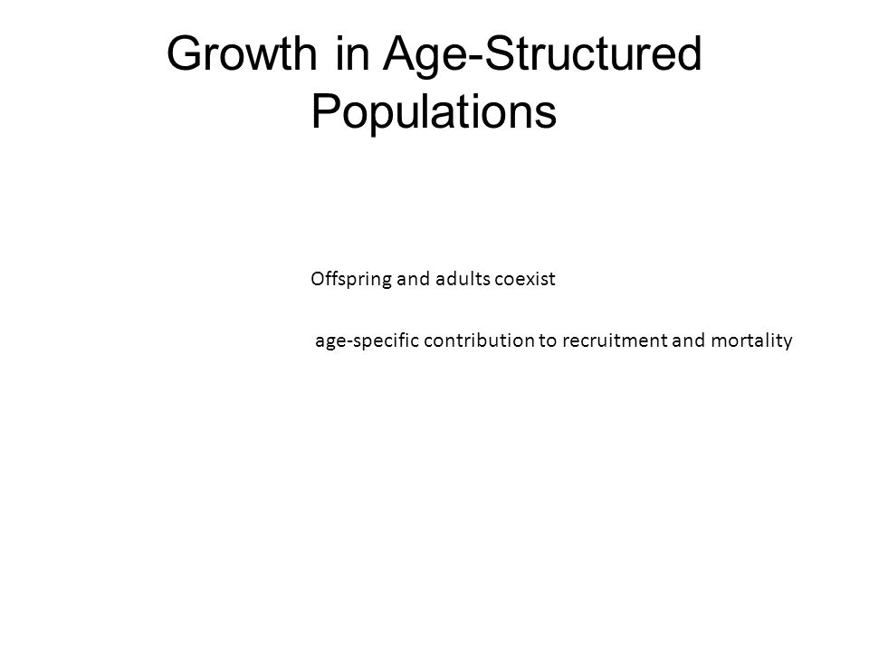 Growth in Age-Structured Populations