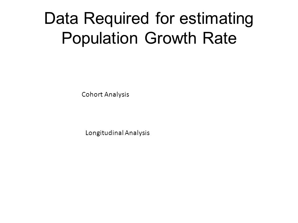 Data Required for estimating Population Growth Rate