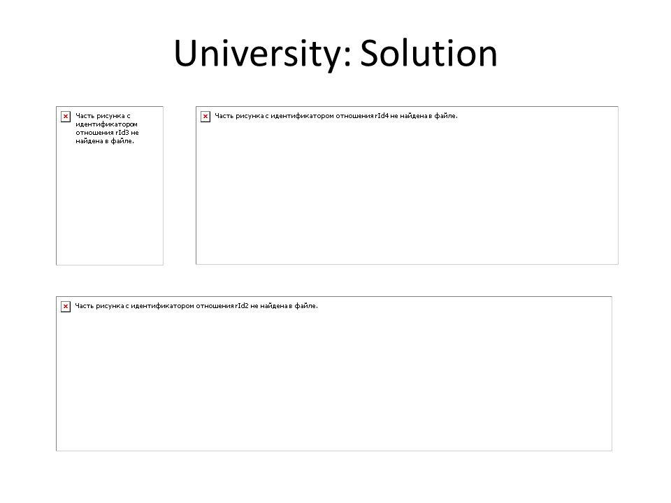 University: Solution
