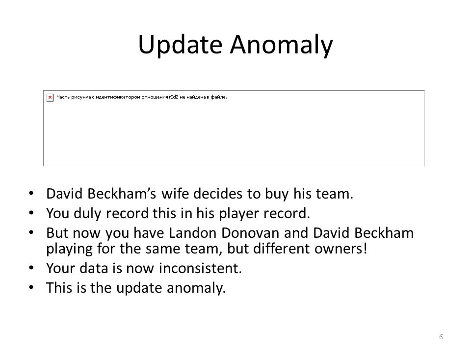 Update Anomaly David Beckham's wife decides to buy his team.