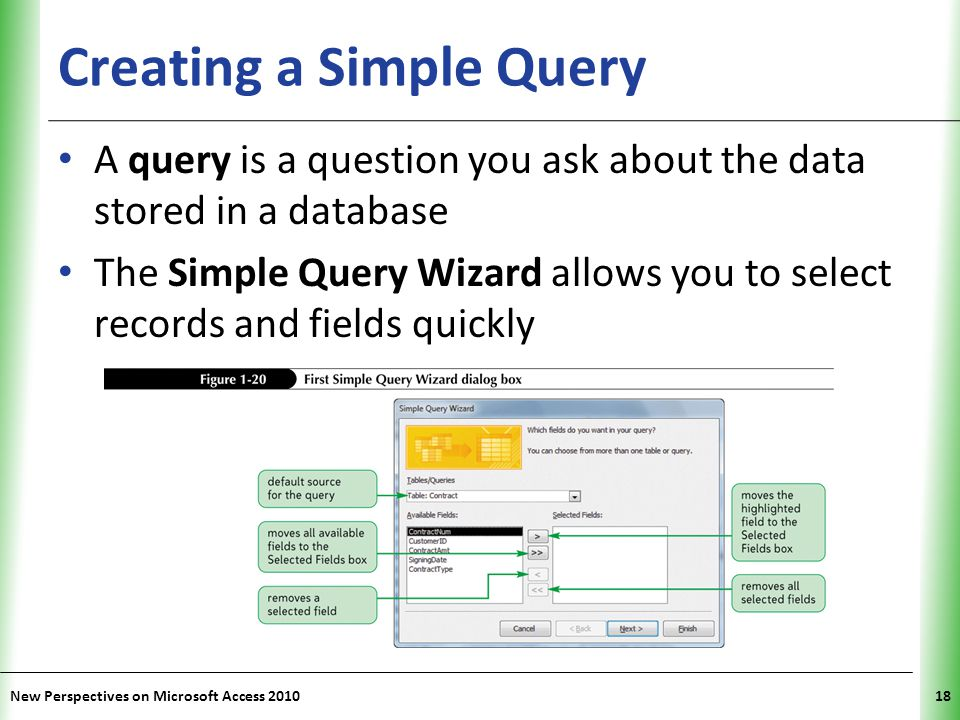 Creating a Simple Query