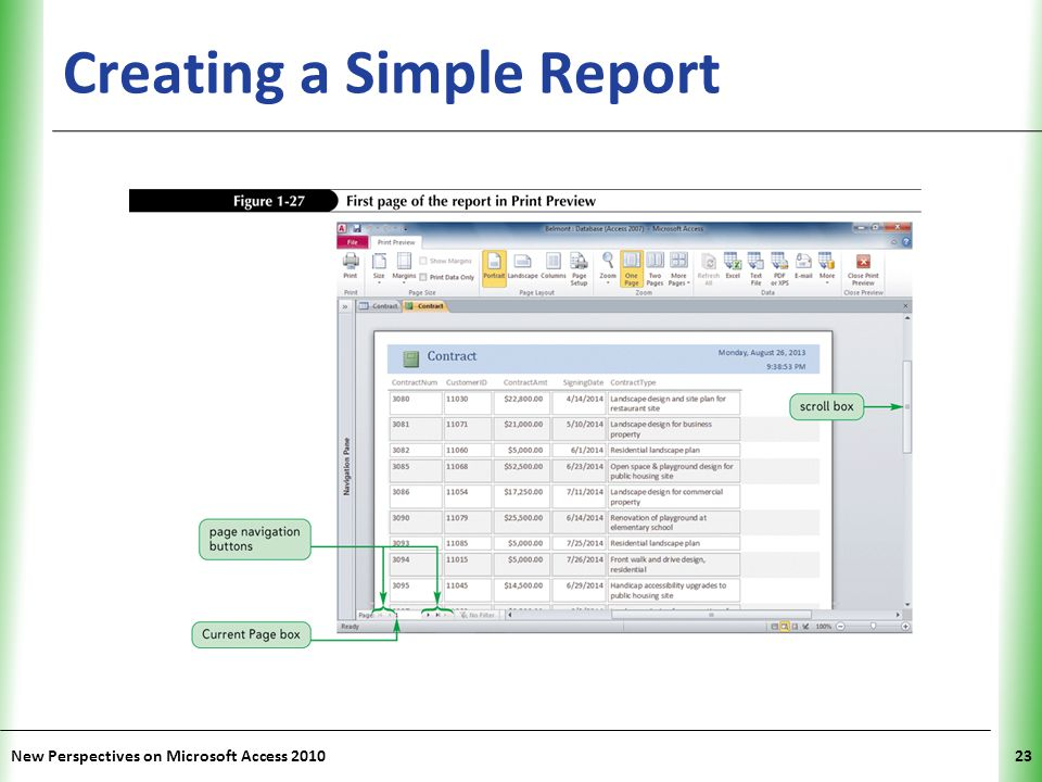 Creating a Simple Report