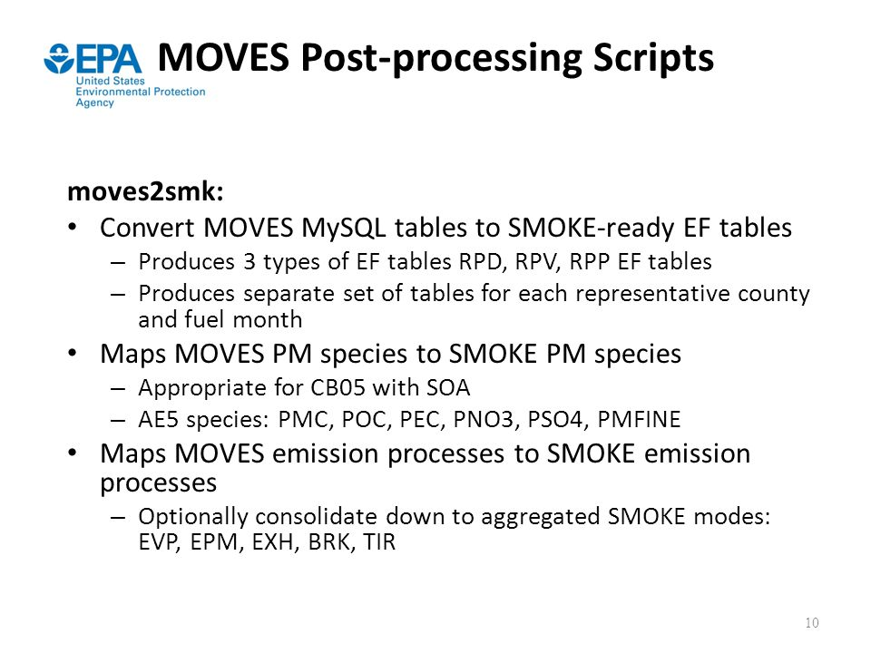 MOVES Post-processing Scripts