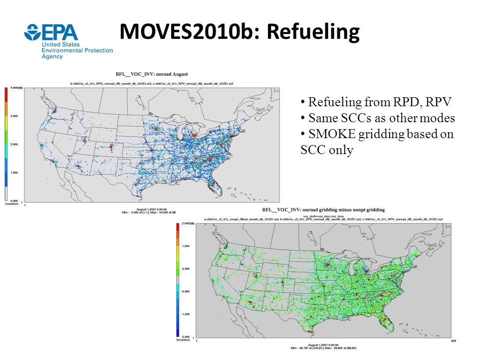 MOVES2010b: Refueling Refueling from RPD, RPV Same SCCs as other modes