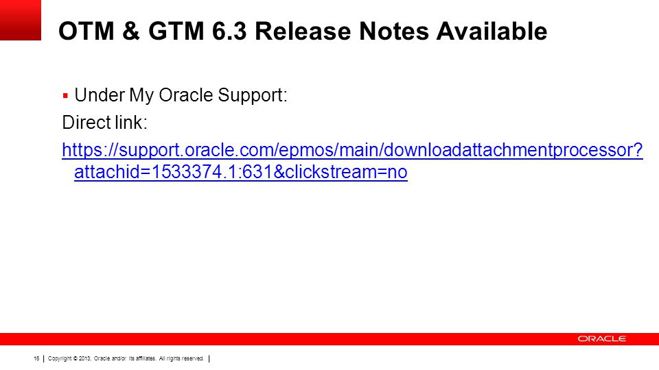 OTM & GTM 6.3 Release Notes Available