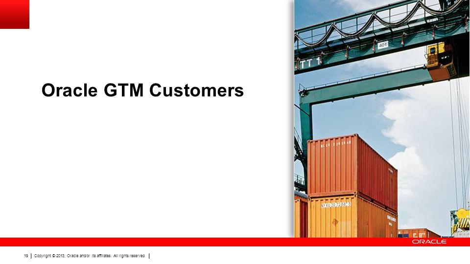 Oracle GTM Customers