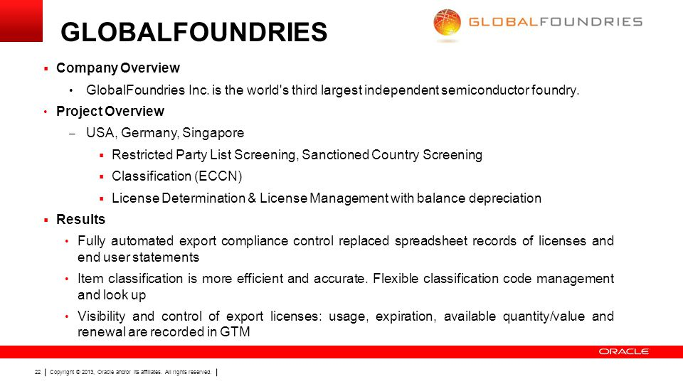 GLOBALFOUNDRIES Company Overview