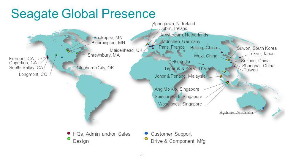 Seagate Global Presence