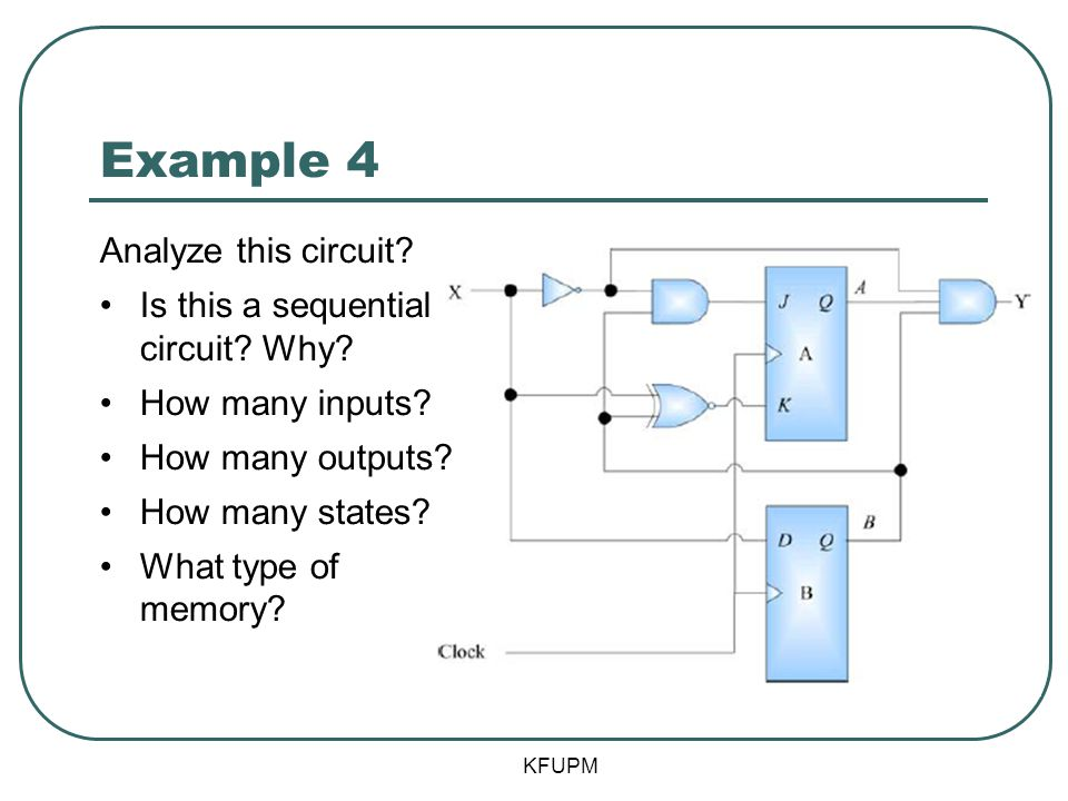 Example 4 Analyze this circuit Is this a sequential circuit Why