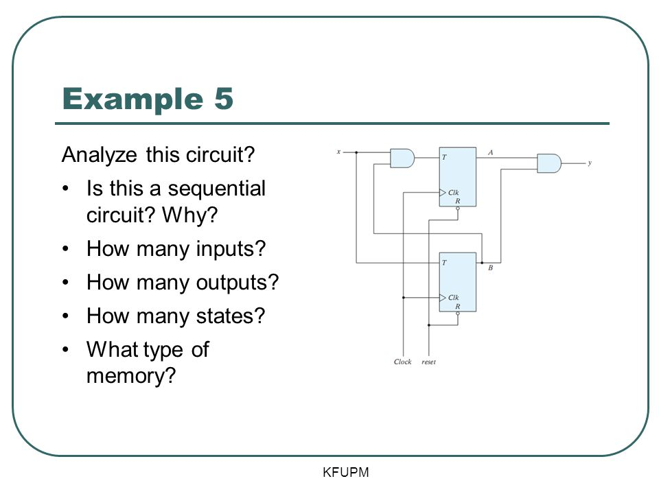 Example 5 Analyze this circuit Is this a sequential circuit Why