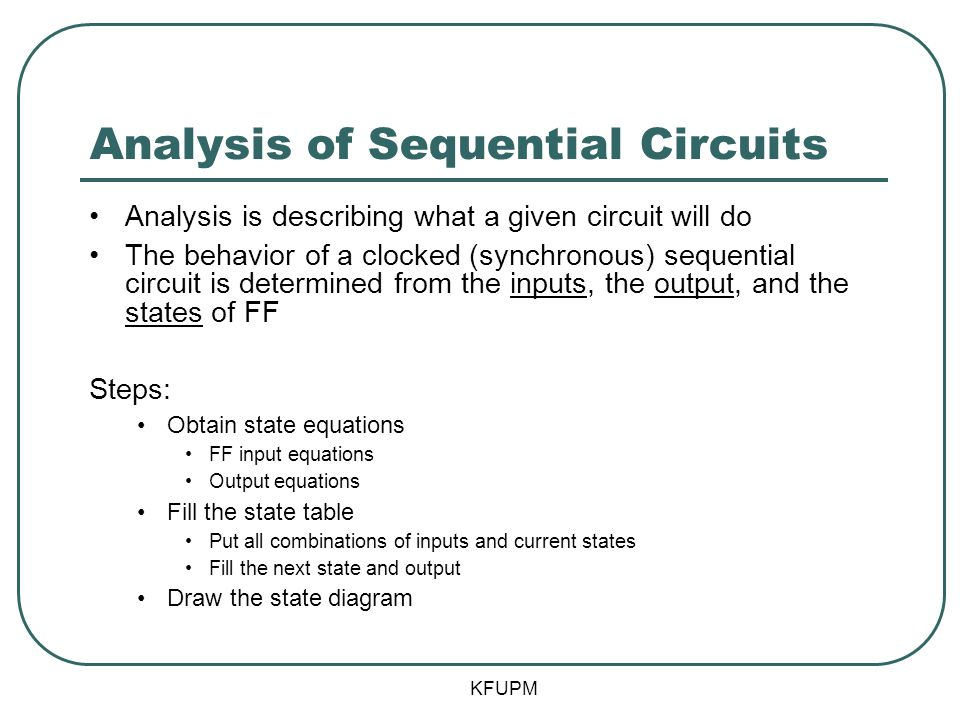 Analysis of Sequential Circuits